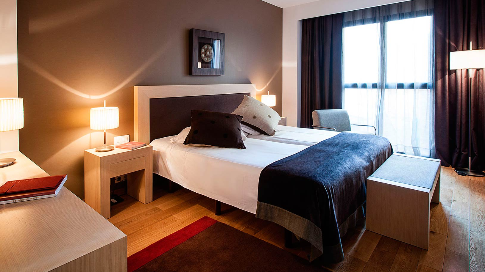 Chambre double avec deux lits